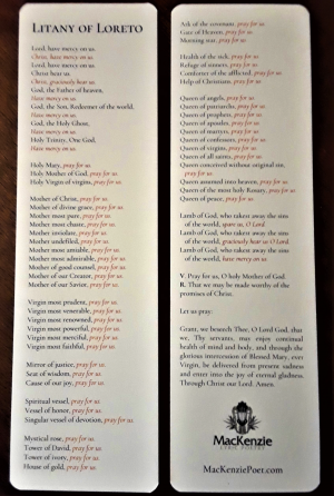 Litany of Loreto Bookmark